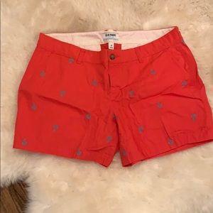 Old Navy pink anchor shorts